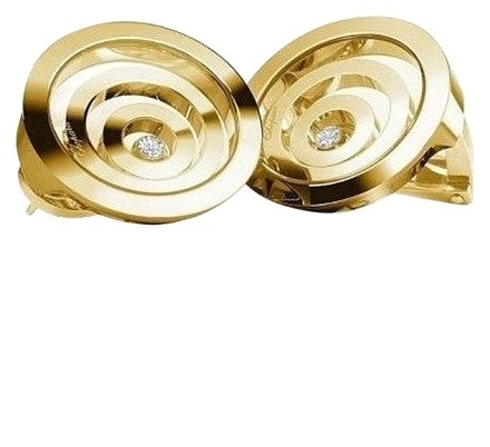 "Image of ""Chopard 18K Yellow Gold Happy Spirit Diamond Earrings 845418"""