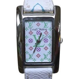 Louis Vuitton Murakami Leather Band 34.4mm Womens Watch