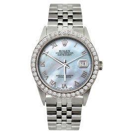 Rolex Datejust Diamond Stainless Steel 36mm Watch