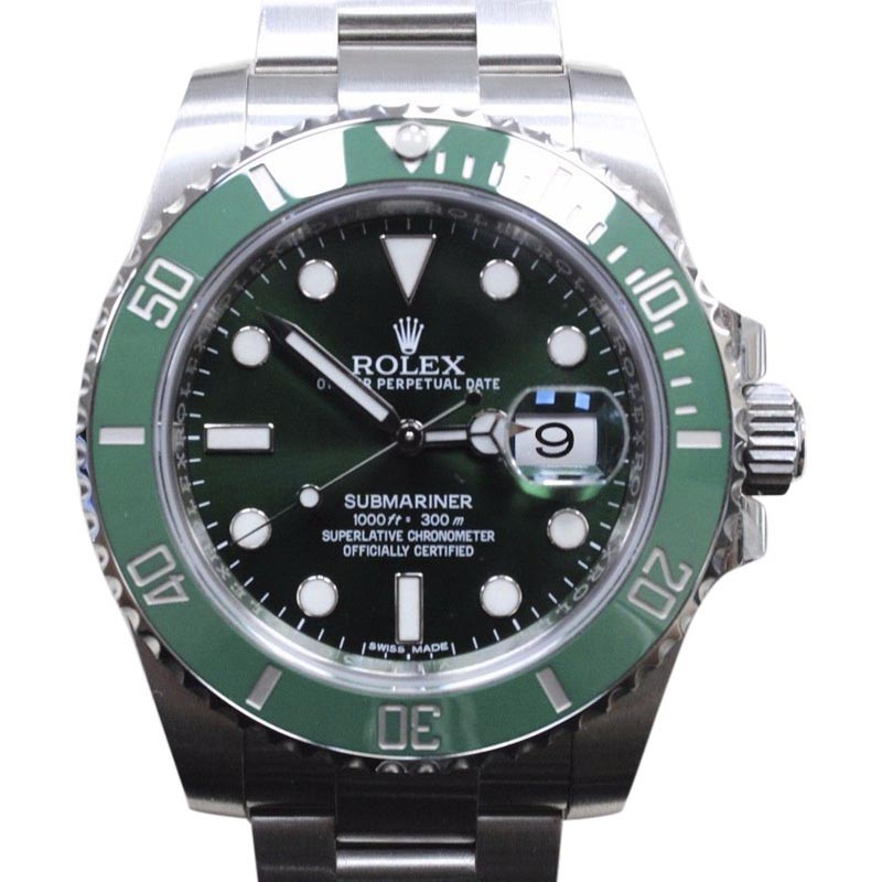 "Image of ""Rolex Submariner 116610 Green Ceramic Hulk Stainless Steel 40mm Mens"""