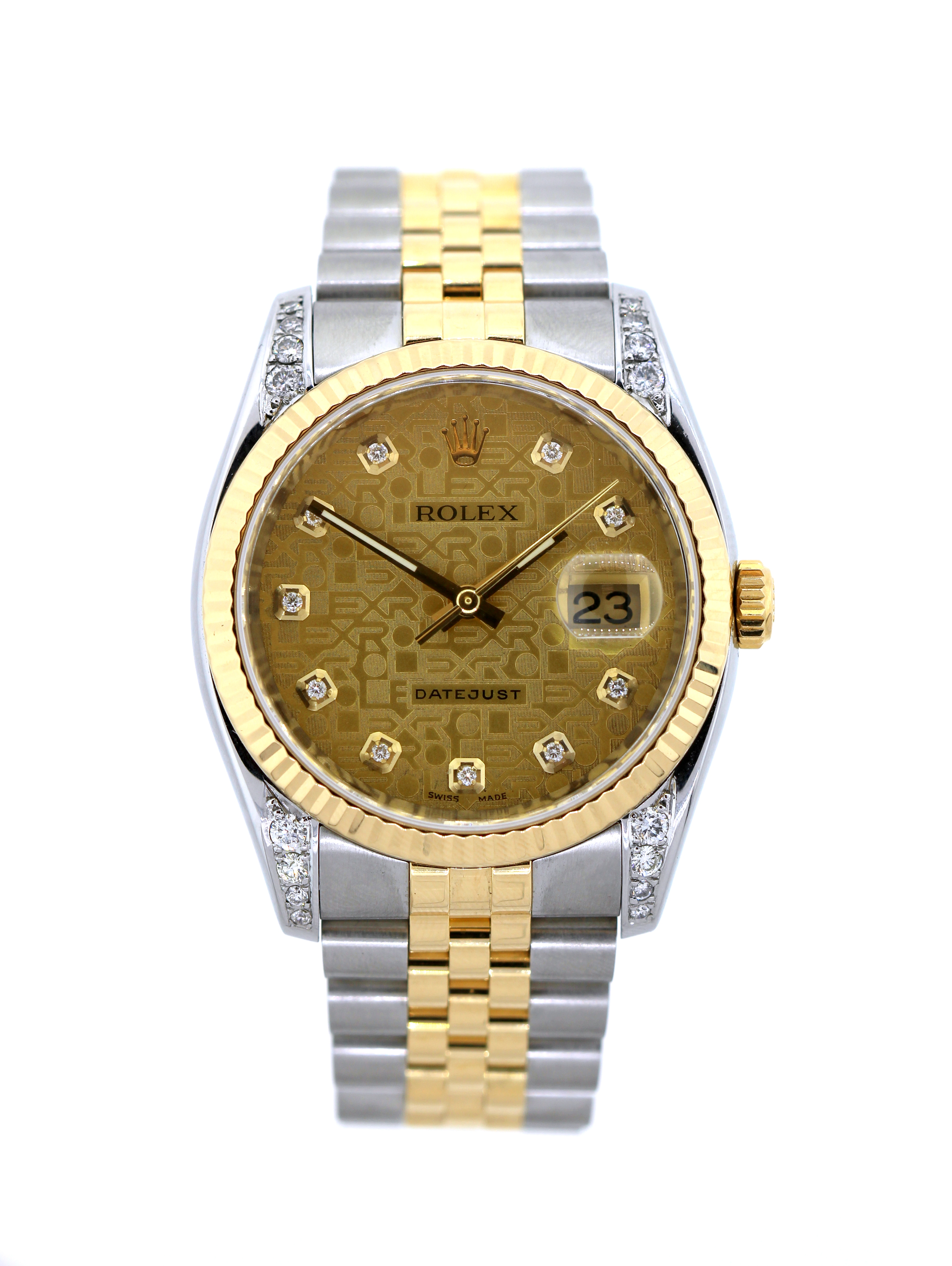 """Image of """"Rolex Datejust Stainless Steel Yellow Gold 36mm Unisex Watch"""""""