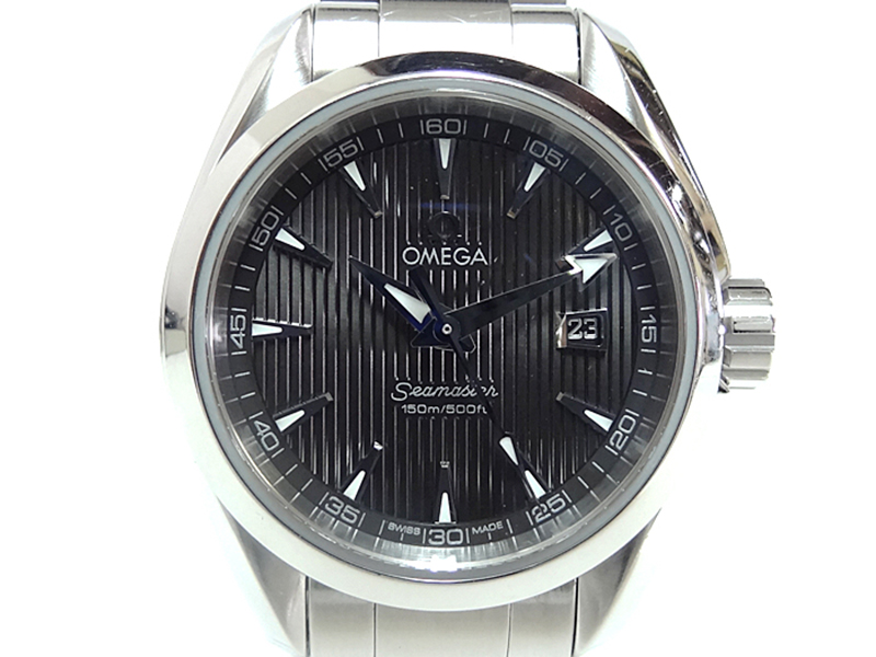 "Image of ""Omega Seamaster Aqua Terra Stainless Steel with Black Dial 29mm Womens"""