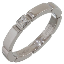 Cartier Mailon Panthere 18K White Gold Diamond Ring Size 3.75