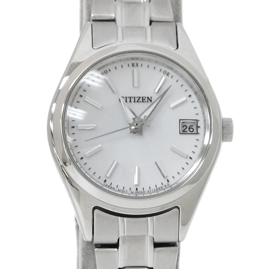 """Image of """"Citizen Eco-Drive Stainless Steel White Dial 25mm Watch"""""""
