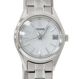 Citizen Eco-Drive Stainless Steel White Dial 25mm Watch
