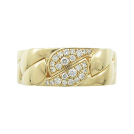 Cartier 18K Yellow Gold with Diamond Ring Size 8