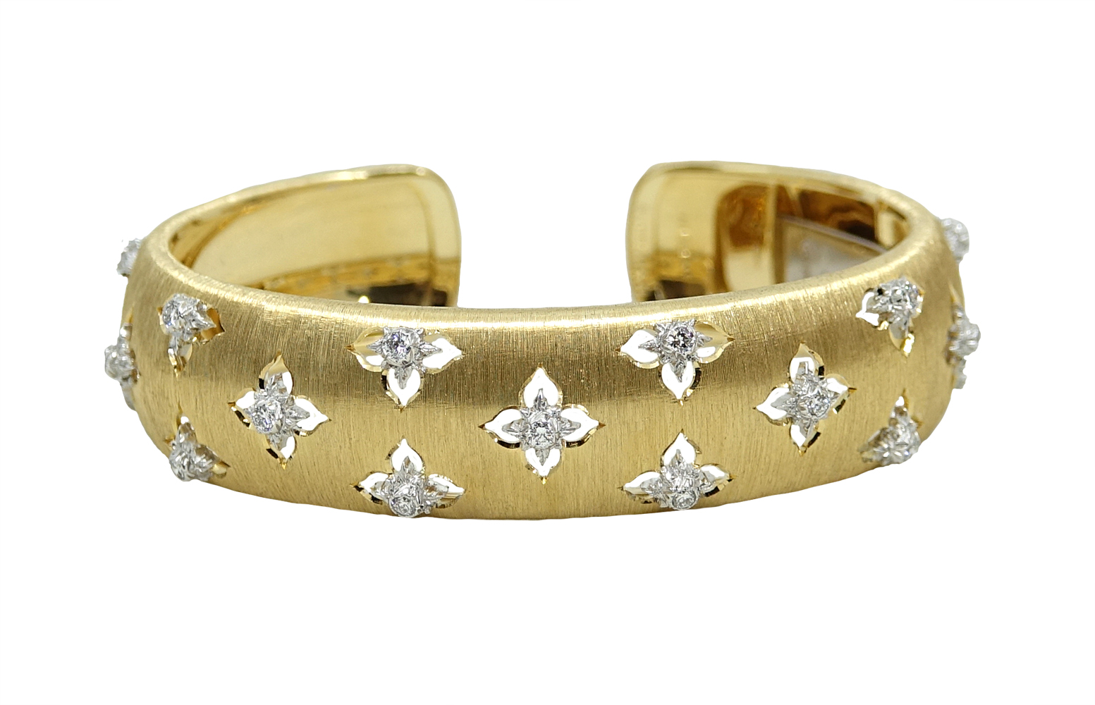 "Image of ""Buccellati Macri .52ct Diamond 18K Yellow Gold and 18K White Gold Cuff"""