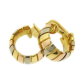 Cartier 18K Yellow Gold , White Gold and Pink Gold Earrings