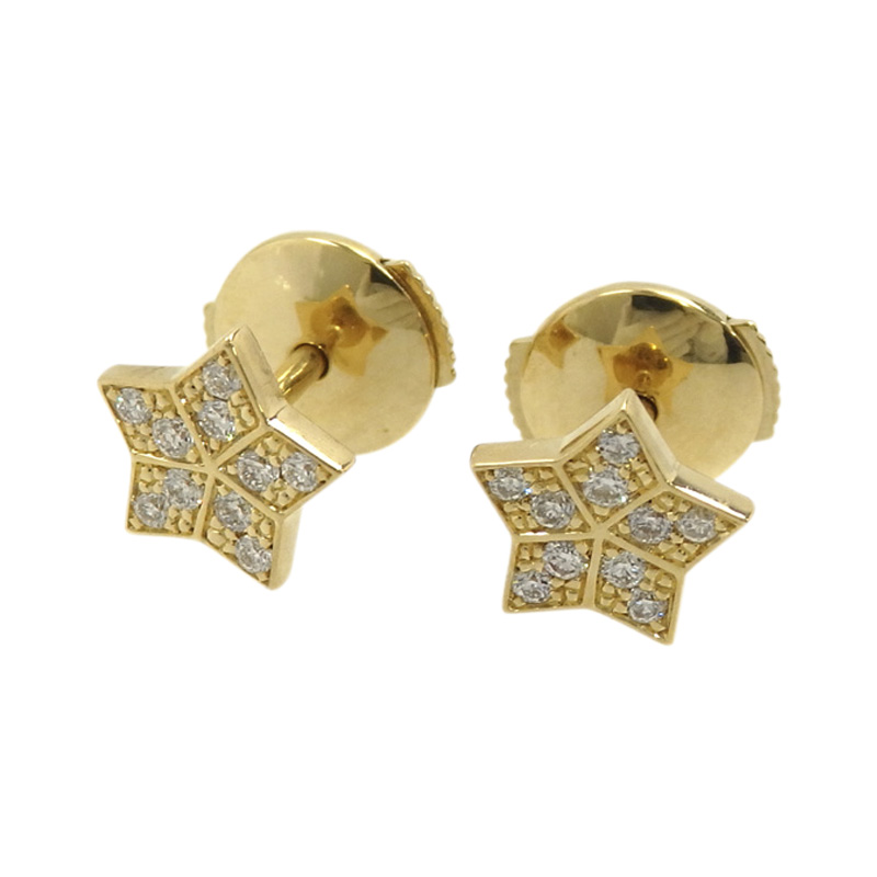 "Image of ""Fred 18K Yellow Gold & Diamond Earrings"""