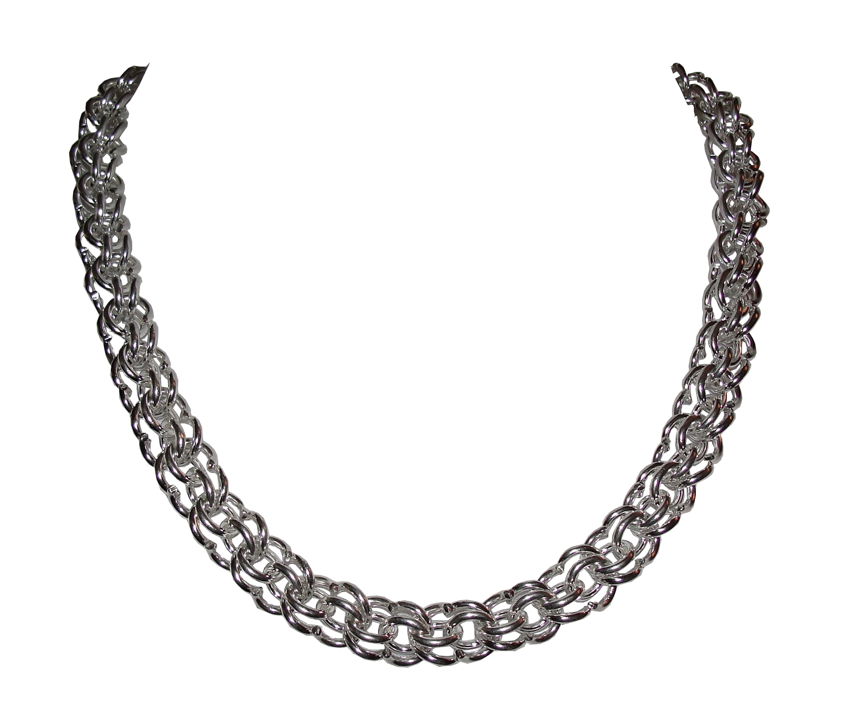 """Image of """"Alberto Juan Sterling Silver Hand Made Chain Necklace"""""""