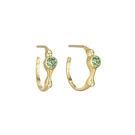 Green Sapphire and Diamond 3/4