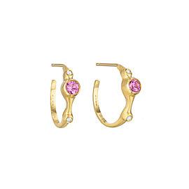 Pink Sapphire and Diamond 3/4