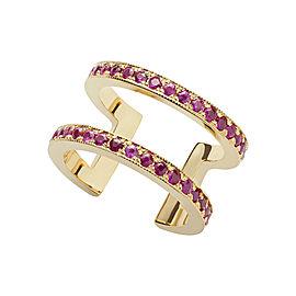 18K Yellow Gold Pink Sapphire Korali Ring
