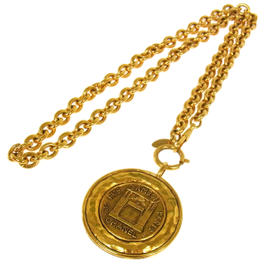 Chanel CC Logos Medallion Gold Chain Necklace