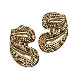 Oscar de la Renta Etched Rope Earrings