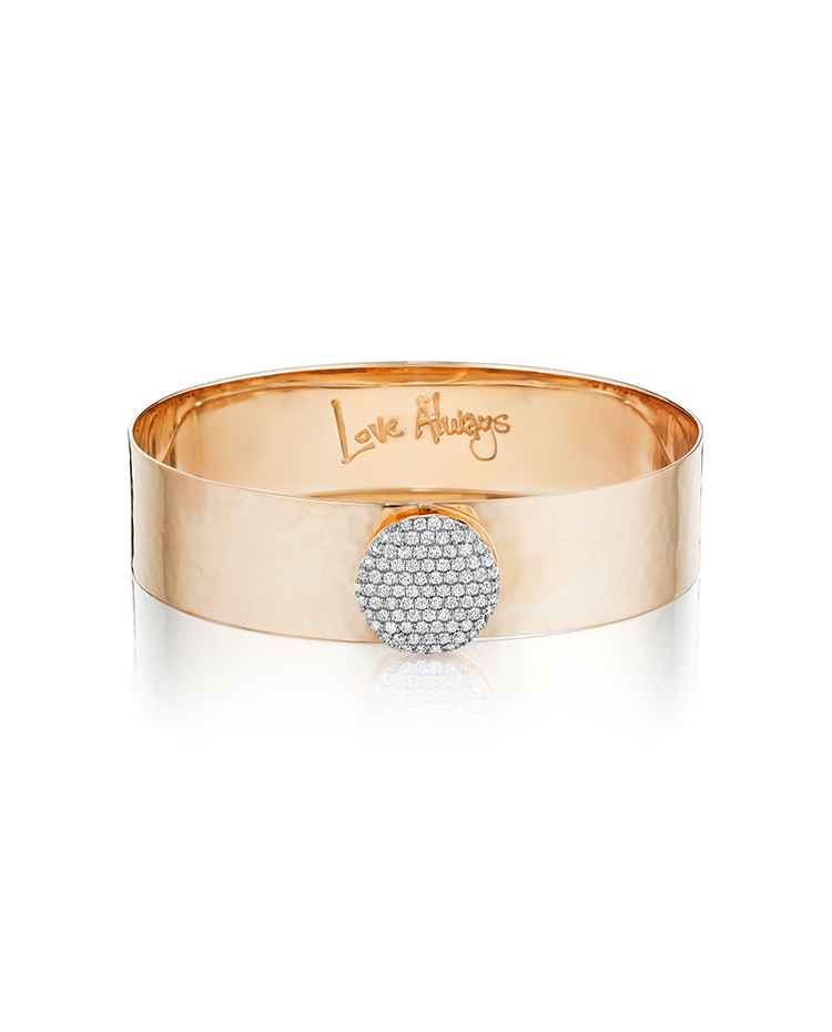 "Image of ""Rose Gold Diamond Large Infinity Love Always Bracelet"""