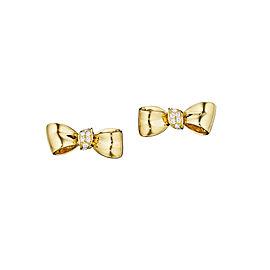 18K Gold Mini Knot Bow Studs