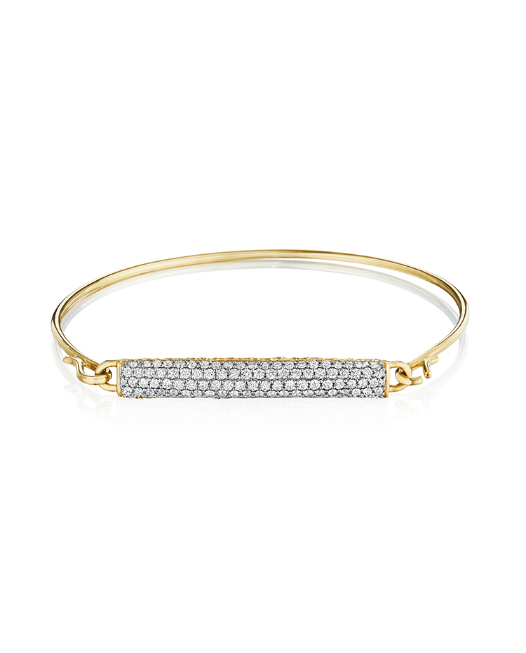 "Image of ""Yellow Gold and Diamond Bar Bracelet"""