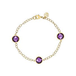 Amethyst 3 Station Chain Bracelet 7