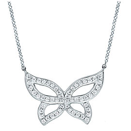 Small Pave Diamond Butterfly Necklace 16