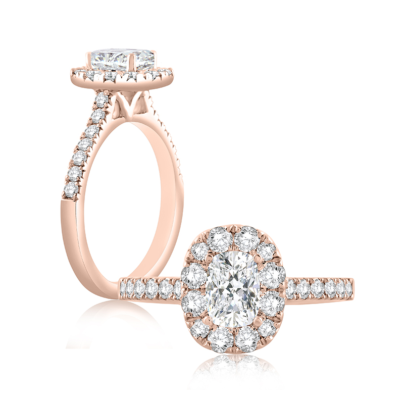 "Image of ""14K Rose Gold 0.55ct G/vs2 Ring"""