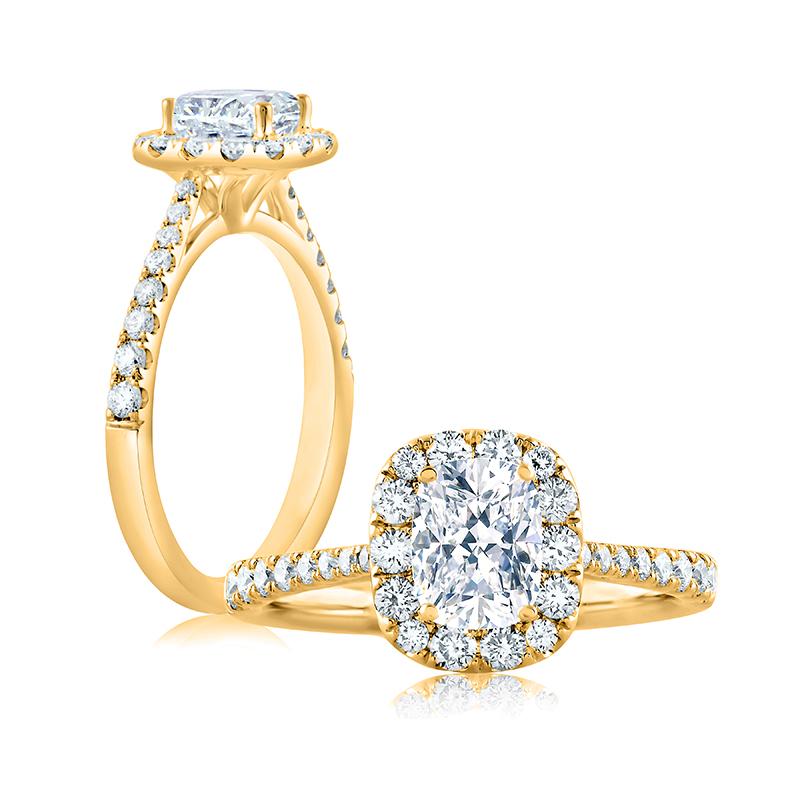 """Image of """"14K Yellow Gold 0.49ct M/vvs2 Ring"""""""