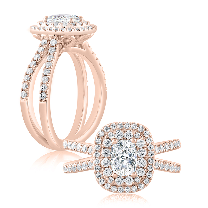 "Image of ""14K Rose Gold 0.56ct J/vvs2 Ring"""