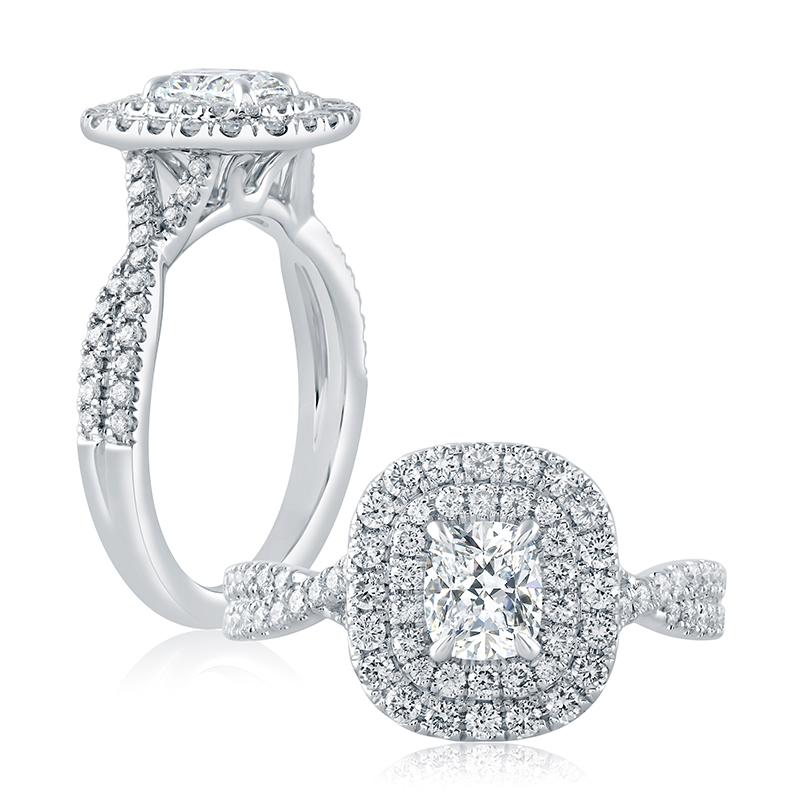 "Image of ""14K White Gold 0.46ct I/si2 Ring"""
