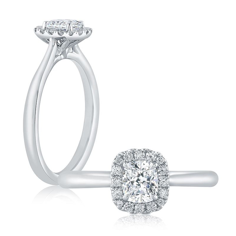 "Image of ""14K White Gold 0.38ct H/si2 Ring"""