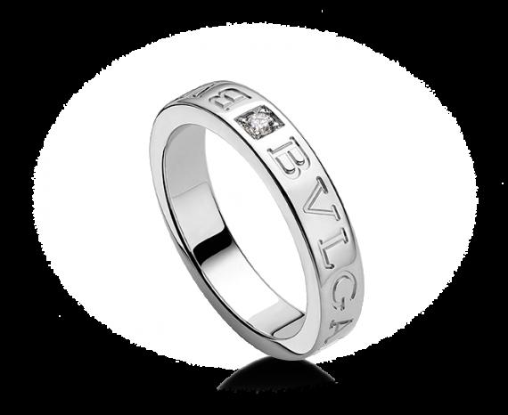 bvlgari bulgari 18k white gold and diamond band ring an853348 buy at truefacet