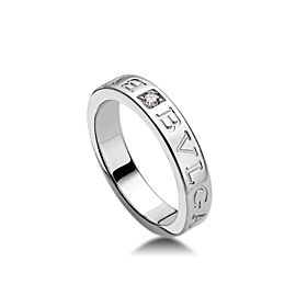 Bvlgari Bulgari18K White Gold and Diamond Band Ring AN853348