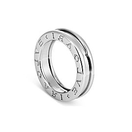 Bvlgari 18K White Gold B.Zero1 Ring Sz 7