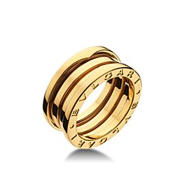 Bvlgari Bulgari B. Zero 1 18K Yellow Gold 3 Band AN191023 Ring