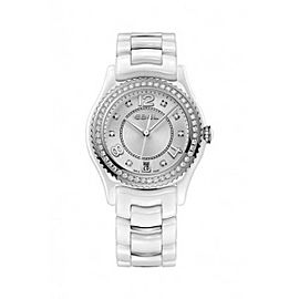 Ebel X-1 White Ceramic Diamond 34 mm Womens Watch