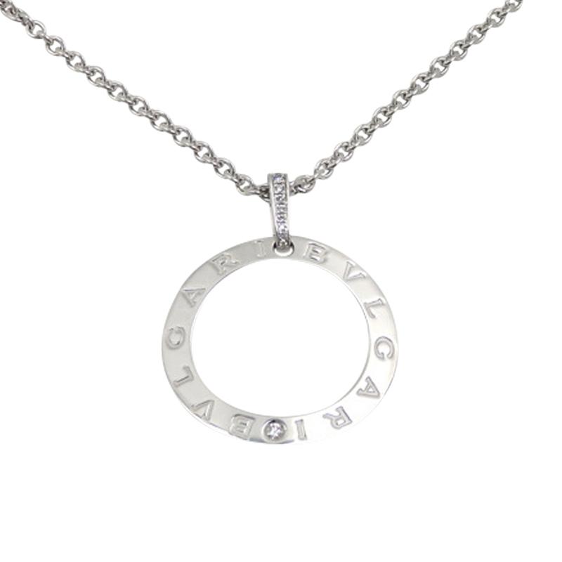 "Image of ""Bulgari 18K White Gold & Diamond Necklace"""