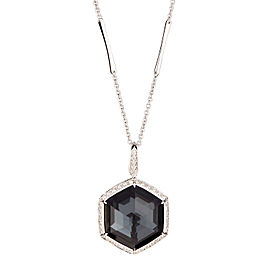 Stephen Webster 18K White Gold with Hematite & Diamond Necklace