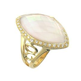 Stephen Webster 18K Yellow Gold with Crystal Haze Marquise & Diamond Ring Size 7