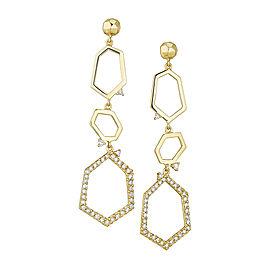 18K Gold Jackson Large Three Drop Earrings