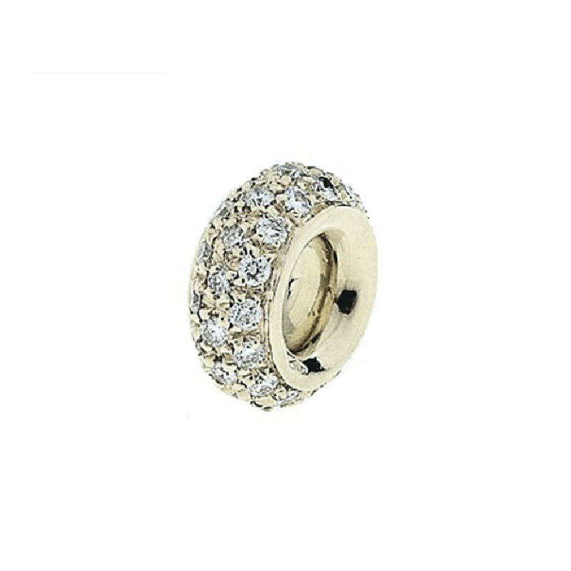 """Image of """"18 Karat White Gold Pave Diamond Spacer"""""""