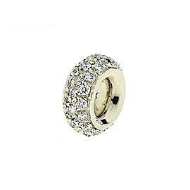 18 Karat White Gold Pave Diamond Spacer