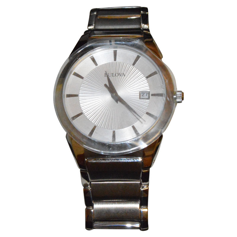 """Image of """"Bulova 96B015 Stainless Steel Silver Tone Dial Mens Watch"""""""