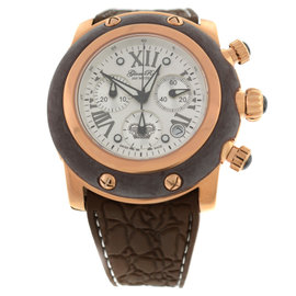 New Glam Rock Women Miami Chronograph 46mm Brown Silicone Watch