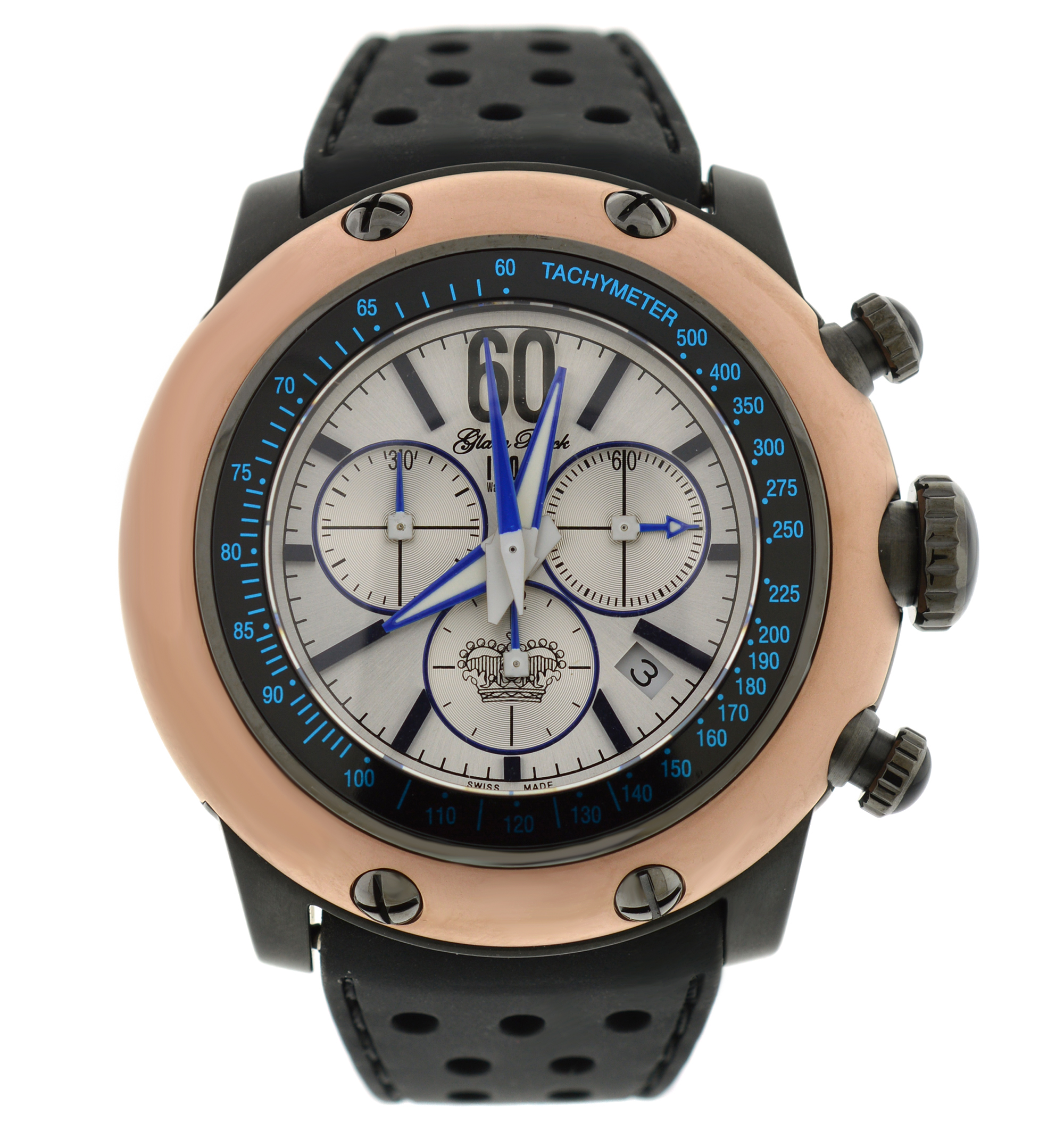 """Image of """"Glam Rock Black Race Track Chronograph 50mm Watch"""""""
