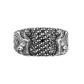 David Yurman Sterling Silver & Black Diamonds Ring