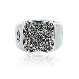 David Yurman Pave Diamond Signet Gents Ring