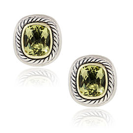 David Yurman Two Tone Lemon Citrine Earrings