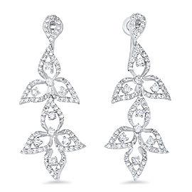 Diamond Leaf Drop Earring