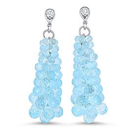 Blue Topaz Bubble Earring