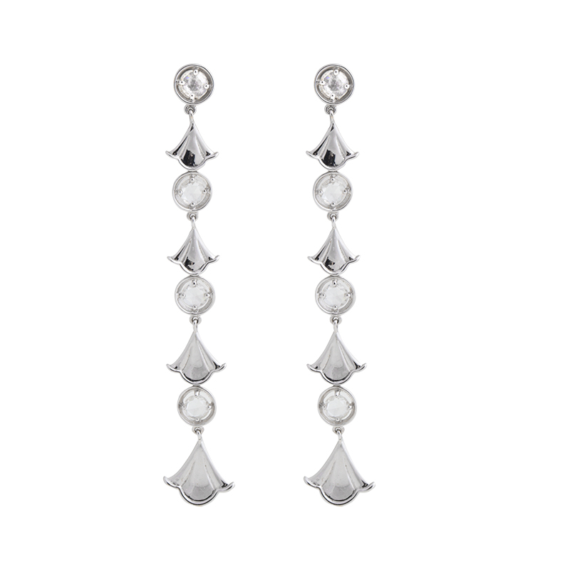 "Image of ""18K Marina B. Pampille Rose Cut Diamond Earings"""