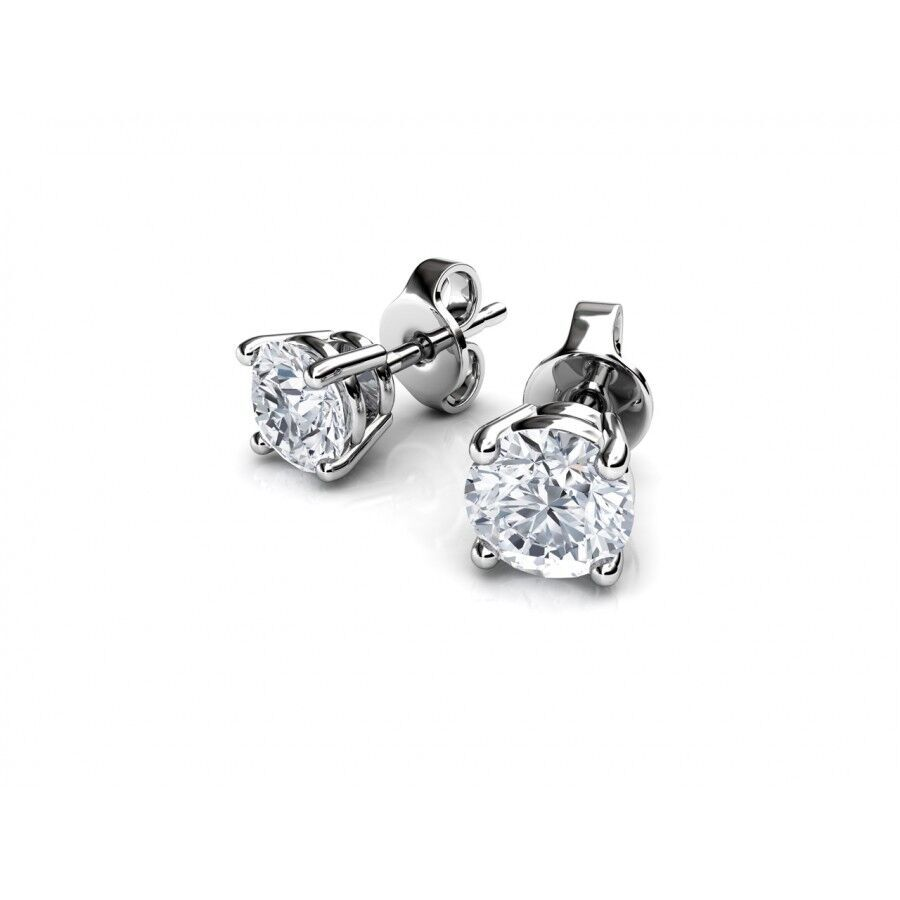 "Image of ""14K Gold 4 Prong Setting Earrings"""